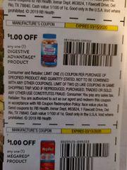 10 COupons $1/1 Digestive Advantage Product Exp.3/15/20
