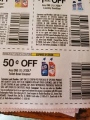 10 Coupons $.50/1 Lysol Toilet Bowl Cleaner Exp.1/29/20