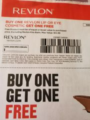 10 Coupons BOGO Revlon Lip or Eye Cosmetic (Up To $12.99) Exp.2/1/20