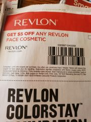 10 Coupons $5/1 Revlon Face Cosmetic Exp.2/1/20