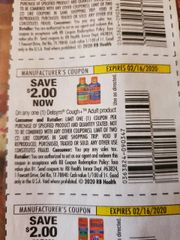 10 Coupons $2/1 Delsym Cough+ Adult Product Exp.2/16/20