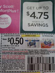 10 Coupons $.50/1 Scott Bath Tissue 6+ Rolls Exp.2/1/20