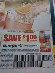 10 Coupons $1/1 Emergen-C Dietary Supplement (8ct+) Exp.1/31/20