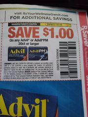 10 Coupons $1/1 Advil or Advil PM 20ct+ Exp.1/27/20