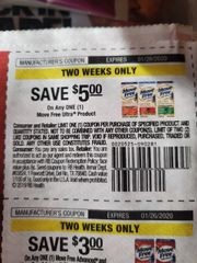 10 Coupons $5/1 Move Free Ultra Product Exp.1/26/20