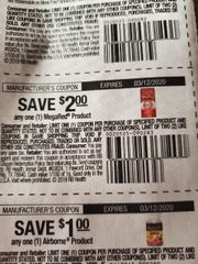 10 Coupons $2/1 MegaRed Product Exp.3/12/20