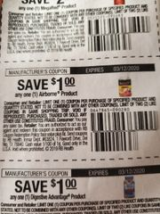 10 Coupons $1/1 Airborne Product Exp.3/12/20