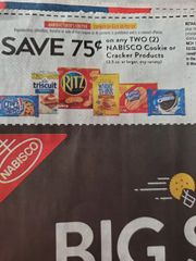 10 Coupons $.75/2 Nabisco Cookie or Cracker Products (3.5oz+) Exp.2/22/20