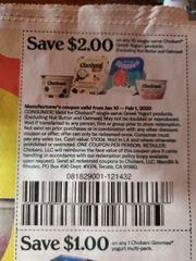 10 Coupons $2/10 Chobani Single-Serve Greek Yogurt Products (Excluding Nut Butter and Oatmeal) Exp.2/1/20