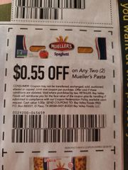 10 Coupons $.55/2 Mueller's Pasta Exp.2/26/20
