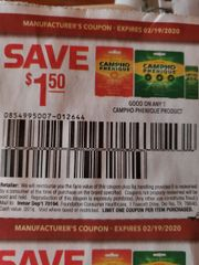 10 Coupons $1.50/1 Campho-Phenique Product Exp.2/19/20
