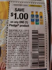 10 Coupons $1/1 Pledge Product Exp.2/22/20