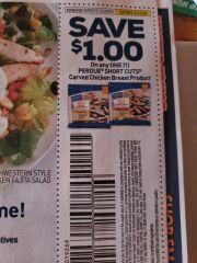 10 Coupons $1/1 Perdue Short Cuts Carved Chicken Breast Product Exp.2/23/20