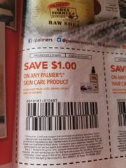 10 COupons $1/1 Palmer's Skin Care Product (Excludes Swivel Stick and Lip Balm) Exp.2/12/20
