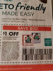 10 Coupons $1/1 South Beach Diet Single Item Exp.2/18/20