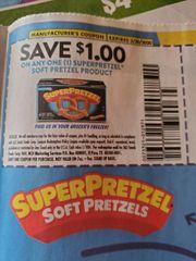 10 Coupons $1/1 Superpretzel Soft Pretzel Product Exp.3/20/20