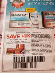 10 Coupons $1/1 Tylenol Cold or Tylenol Sinus or Children's Tylenol Cold Product Exp.2/15/20
