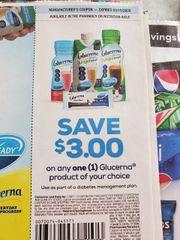 10 Coupons $3/1 Glucerna Product Exp.3/15/20