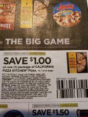 10 Coupons $1/1 California Pizza Kitchen 10.7oz+ Exp.2/29/20