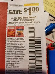 10 Coupons $1/2 Town House Club Crackers and/or Cheez-It Baked Snack Crackers (7oz-16oz) Exp.3/8/20