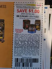 10 Coupons $1/1 McCafe Coffee Product Exp.3/18/20