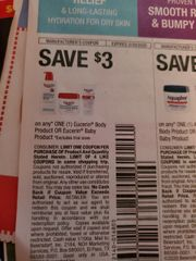 10 Coupons $3/1 Eucerin Body Product Or Eucerin Baby Product Exp.2/29/20