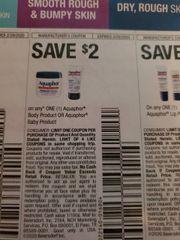 10 Coupons $2/1 Aquaphor Body Product Or Aquahor Baby Prouct Exp.2/29/20