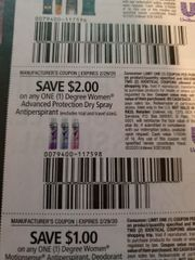 10 Coupons $2/1 Degree Women Advanced Protection Dry Spray Antiperspirant Exp.2/29/20