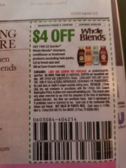 10 Coupons $4/2 Garnier Whole Blends Shampoo, Conditioner or treatment Products (Excluding Twin Packs, 3oz and .68 Care Cream Mask) Exp.2/22/20