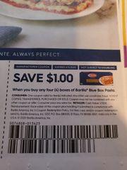 10 Coupons $1/4 Barilla Blue Box Pasta Exp.4/5/20