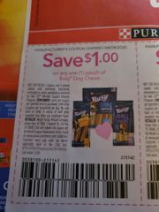10 Coupons $1/1 Busy Dog Chew Pouch Exp.4/9/20