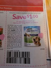 10 Coupons $1/1 DentaLife Dog Treats or Chews Exp.4/9/20