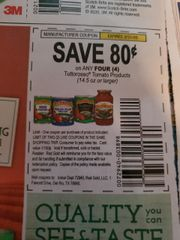 10 Coupons $.80/4 Tuttrosso Tomato Products (14.5oz+) Exp.3/31/20