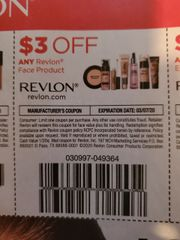 10 Coupons $3/1 Revlon Face Product Exp.3/7/20