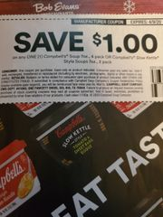 10 Coupons $1/1 Campbell's Soup 7oz, 4 Pack or Campbell's Slow Kettle Style Soups 7oz, 2 Pack Exp.4/9/20
