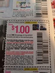 10 Coupons $1/1 U By Kotex Tampons Exp.3/14/20