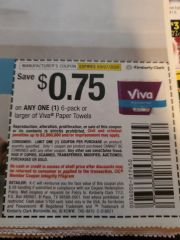 10 Coupons $.75/1 Viva Paper Towels 6-Pack+ Exp.3/7/20