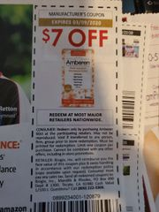 10 Coupons $7/1 Amberen Exp.3/9/20
