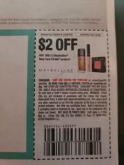 10 Coupons $2/1 Maybelline New York Fit Me Product Exp.3/14/20