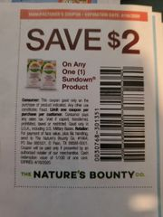 10 Coupons $2/1 Sundown Product Exp.4/16/20