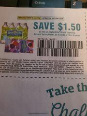 10 Coupons $1.50/2 Zephyrhills Sparkling Natural Spring Water .5L 8-Packs or 12oz 8-Packs Exp.4/19/20