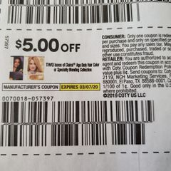 10 Coupons $5/2 Clairol Age Defy Hair Color or Specialty Blonding Collection Exp.3/7/20