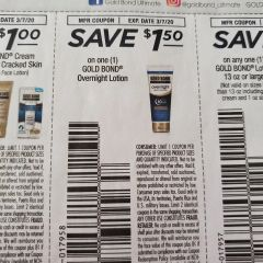 10 Coupons $1.50/1 Gold Bond Overnight Lotion Exp.3/7/20