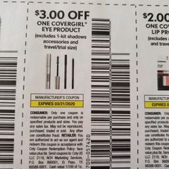 10 Coupons $3/1 Covergirl Eye Product Exp/3/21/20