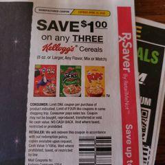 10 Coupons $1/3 Kellogg's Cereals (8oz+) Exp.4/12/20
