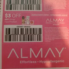 10 Coupons $3/1 Almay Face Product Exp.4/4/20