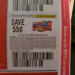 10 Coupons $.55/1 Jimmy Dean Item Exp.4/4/20