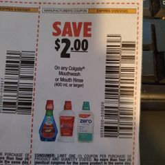 10 Coupons $2/1 Colgate Mouthwash or Mouth Rinse (400mL+) Exp.3/28/20