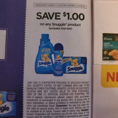 10 Coupons $1/1 Snuggle Product Exp.4/5/20