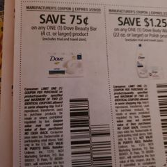 10 Coupons $.75/1 Dove Beauty Bar (4ct+) Product Exp.3/29/20